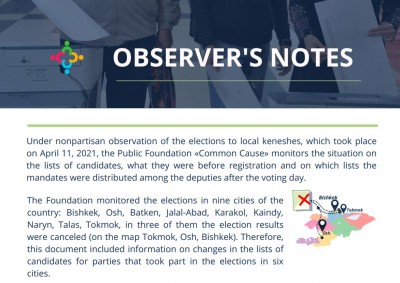 Observer's notes: Changes were made to the final lists of candidates of political parties