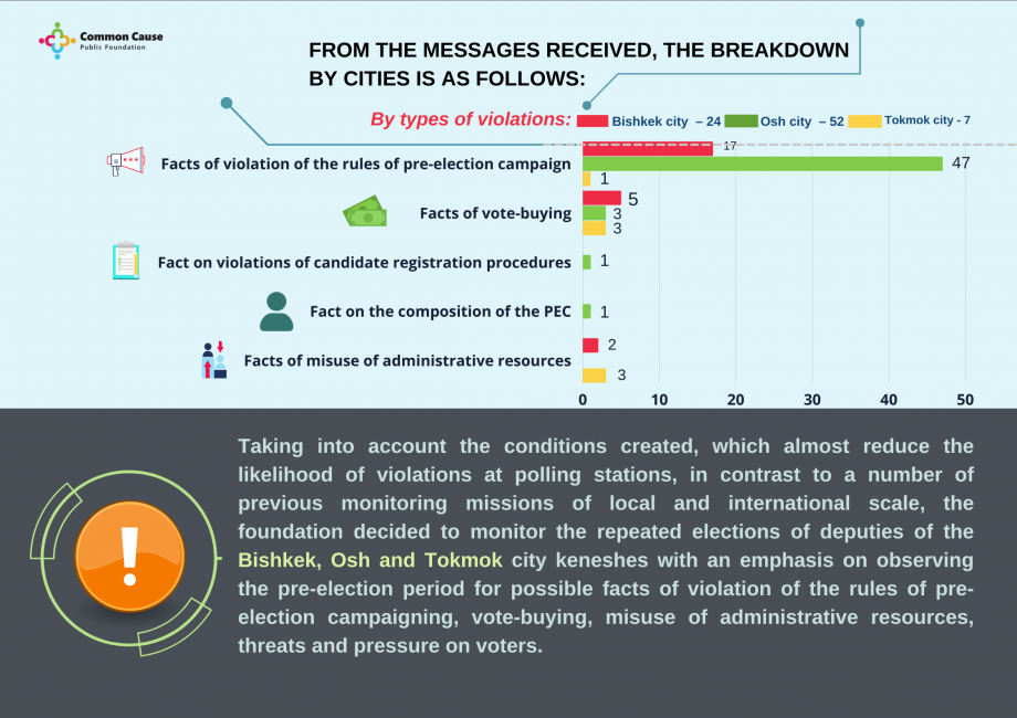 """""""Common Cause"""": 83 violations were revealed during the period of observation of the repeated elections"""